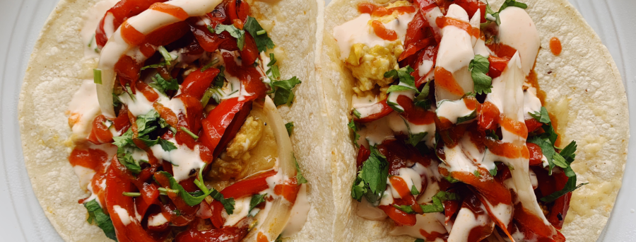 Bell Pepper Breakfast Tacos